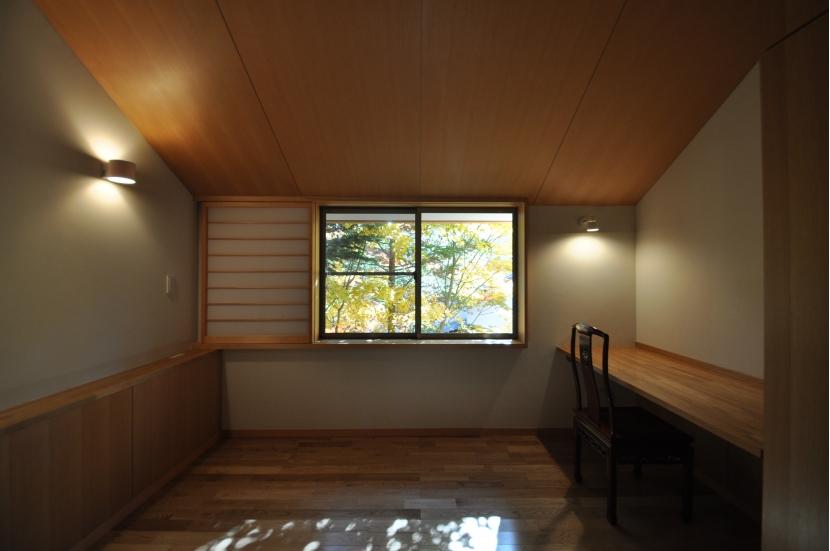 軽井沢の別荘の部屋 寝室