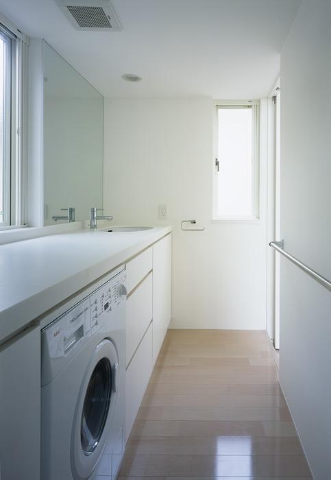 上連雀の家~北側採光のリビングの部屋 洗面脱衣