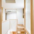 書斎小窓から階段吹抜を見る