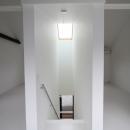 オウチ15・静岡の二世帯住宅の写真 天窓のある階段