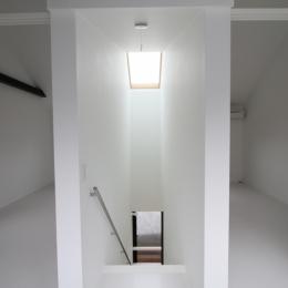 オウチ15・静岡の二世帯住宅 (天窓のある階段)