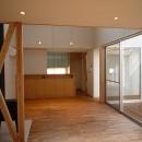 銚子の家の写真 リビングからダイニングキッチン方向を見る