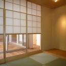 銚子の家の写真 廊下を介して中庭に面する和室