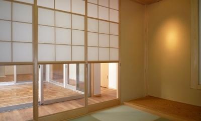 銚子の家 (廊下を介して中庭に面する和室)