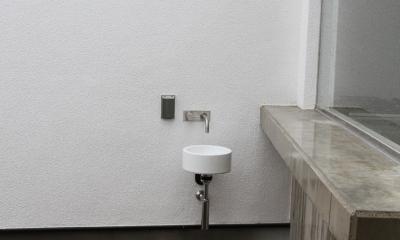 静岡の二世帯住宅  中庭に小屋を持つOUCHI-15 (中庭の水屋)