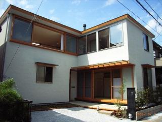 坪井町の家の部屋 東・南側外観