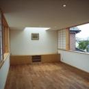 坪井町の家の写真 東西の窓が開けられたリビングダイニング
