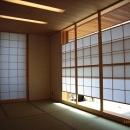 坪井町の家の写真 和室の月雪見障子