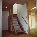 坪井町の家の写真 開放的なスギ無垢板の階段