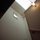 坪井町の家の写真 階段トップライト