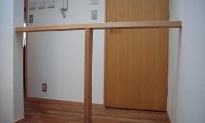 坪井町の家 (シンプルな階段吹抜手摺)