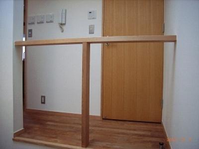 シンプルな階段吹抜手摺 (坪井町の家)