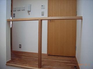 坪井町の家の部屋 シンプルな階段吹抜手摺