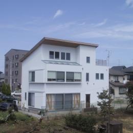生産緑地に面した東側外観 (船橋S邸)