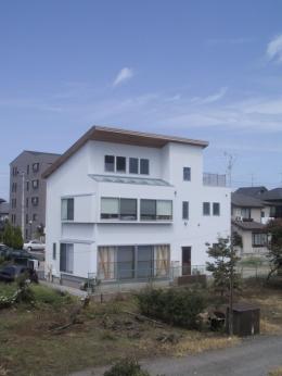 船橋S邸 (生産緑地に面した東側外観)