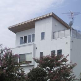 東側2階とロフトを望む (船橋S邸)