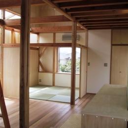 船橋S邸 (リビングの取り外し可能な置き畳)