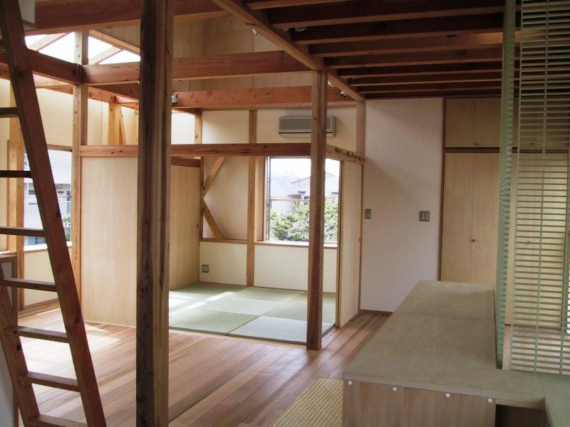 船橋S邸の部屋 リビングの取り外し可能な置き畳