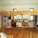 上本郷の家の写真 子供部屋の造りつけベッドとデスク
