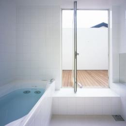 奥沢の家~ルーフガーデンの家 (浴室)