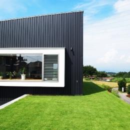 群馬県榛東村・芝屋根住宅-3|W HOUSEの部屋 芝生デッキで夏場も快適生活!