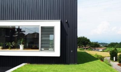 芝生デッキのある家|W HOUSE