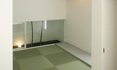 白井の家Ⅱ~東西庭の家 (和室1)