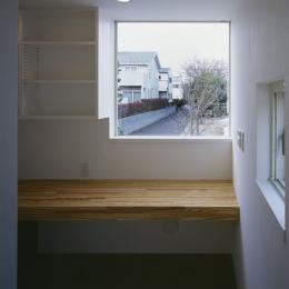 白井の家Ⅱ~東西庭の家-勉強コーナー