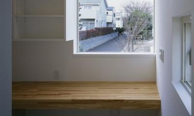 白井の家Ⅱ~東西庭の家 (勉強コーナー)