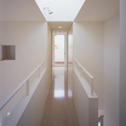 白井の家Ⅱ~東西庭の家-廊下