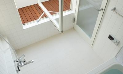 白井の家Ⅱ~東西庭の家 (浴室)