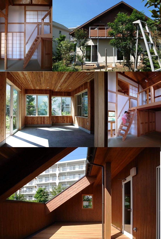 減築が生んだ半屋外バルコニーの写真 和室