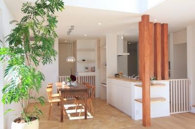 月見台のある家 (キッチン1)