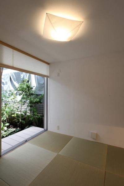 和室 (シンプルラグジュアリー 碧い屋根の家)