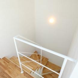 シンプルラグジュアリー 碧い屋根の家 (階段)