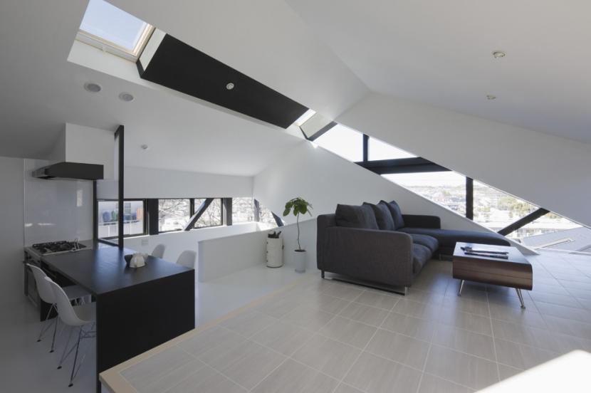 建築家:石川淳「オウチ06・斜め窓の家」