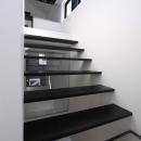 ミニマルな階段デザイン