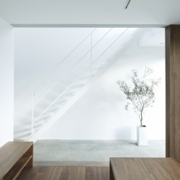 白い原石の家 (白い原石の家 リビング)
