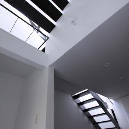 斜め窓の家 OUCHI-06 (子供室から階段の見上げ)