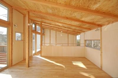 2階の子ども室 (地下の音楽スタジオのある家)