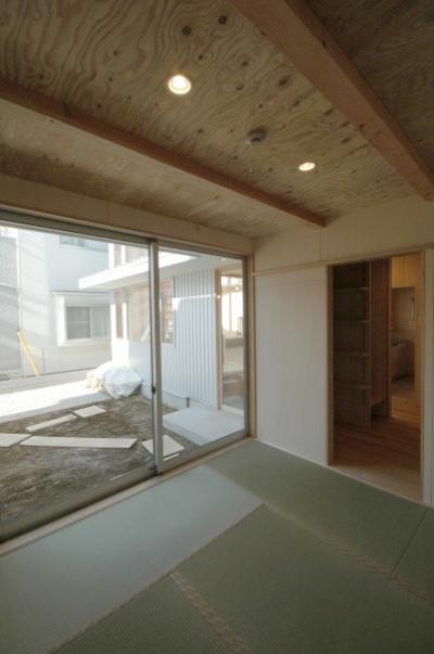 タタミの部屋 (地下の音楽スタジオのある家)