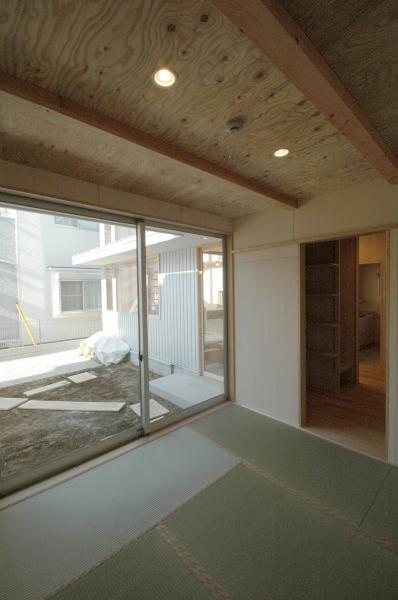 地下の音楽スタジオのある家の部屋 タタミの部屋