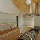 ロフトでつながる大屋根の家の写真 キッチンの収納