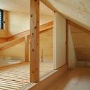 ロフトでつながる大屋根の家の写真 ロフトの裏のロフト