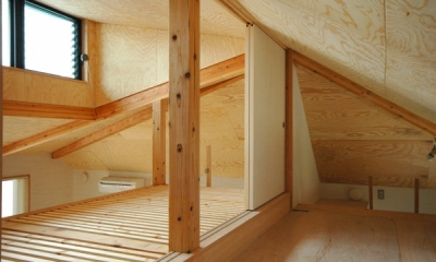 ロフトでつながる大屋根の家 (ロフトの裏のロフト)