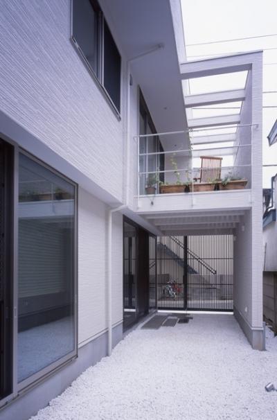 玄関2 (ホワイエのある家)