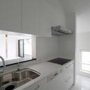 白で統一したキッチン