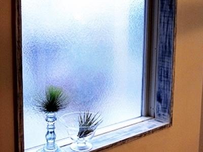 窓枠&ガラス (造作家具&プチアンティーク)