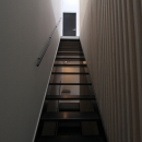 2階リビングへの階段