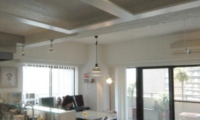 キッチンとダイニング|明るい浴室を作ったマンションリノベ